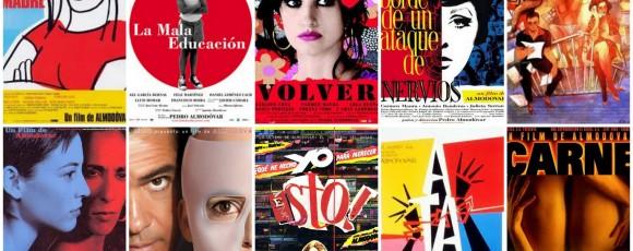 DR montage des affiches de films d'Almodovar