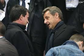 Manuel Valls et Nicolas Sarkozy au Stade de France