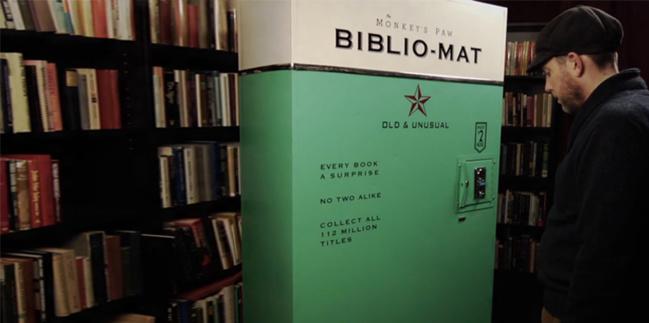Biblio-Mat, distributeur de livres