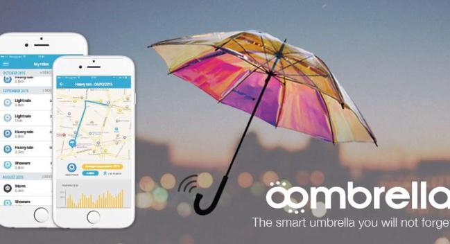 Le parapluie connecté qui donne la météo
