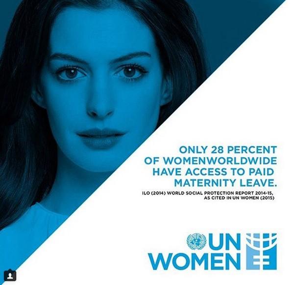 Anne Hathaway, Ambassadrice Pour Les Inégalités Hommes