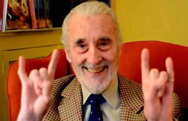 Christopher Lee, 92 ans, toujours à fond dans l'heavy metal