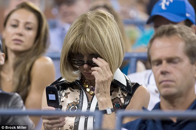 À l'US Open avec son flip phone
