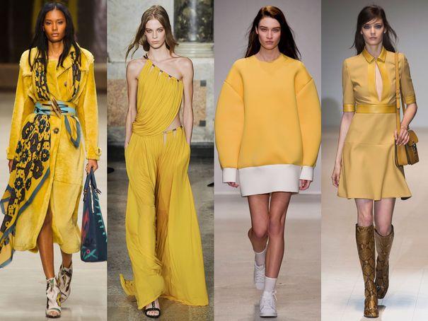 De gauche à droite, Burberry, Pucci, Jacquemus, Gucci