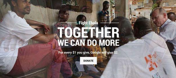 « Faites un don », quand les géants de l'Internet se mobilisent contre Ebola